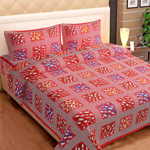 Square Design Double Bedsheets